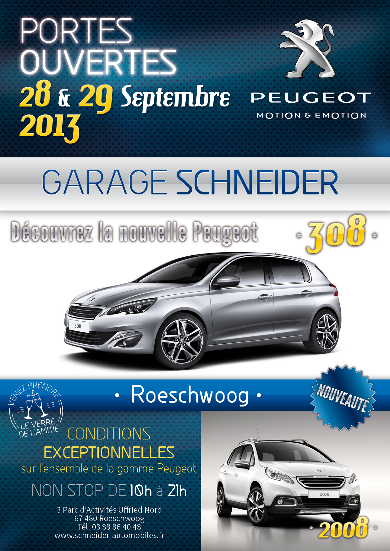 portes ouvertes septembre 2013 garage peugeot schneider roeschwoog. Black Bedroom Furniture Sets. Home Design Ideas